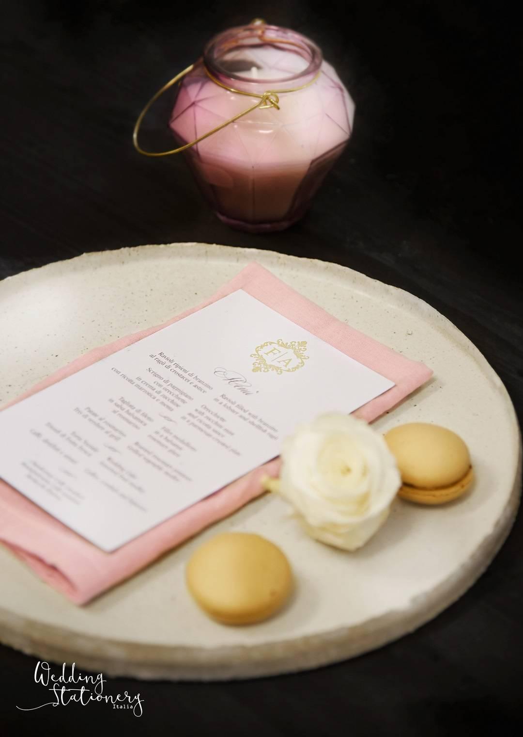 stampe per matrimonio rosa e oro
